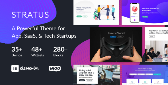App, SaaS & Software Startup Tech Theme - Stratus