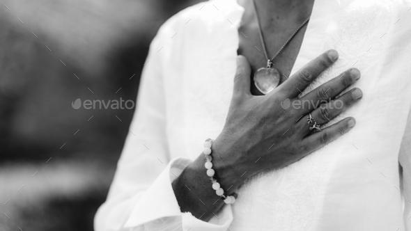 Gratefulness Meditation Hand Gesture - Stock Photo - Images