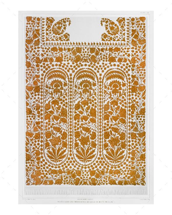 Indian ethnic pattern vintage illustration - Stock Photo - Images