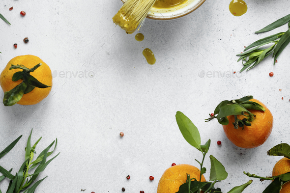 Homemade honey mustard sauce in a bowl food photography - Stock Photo - Images