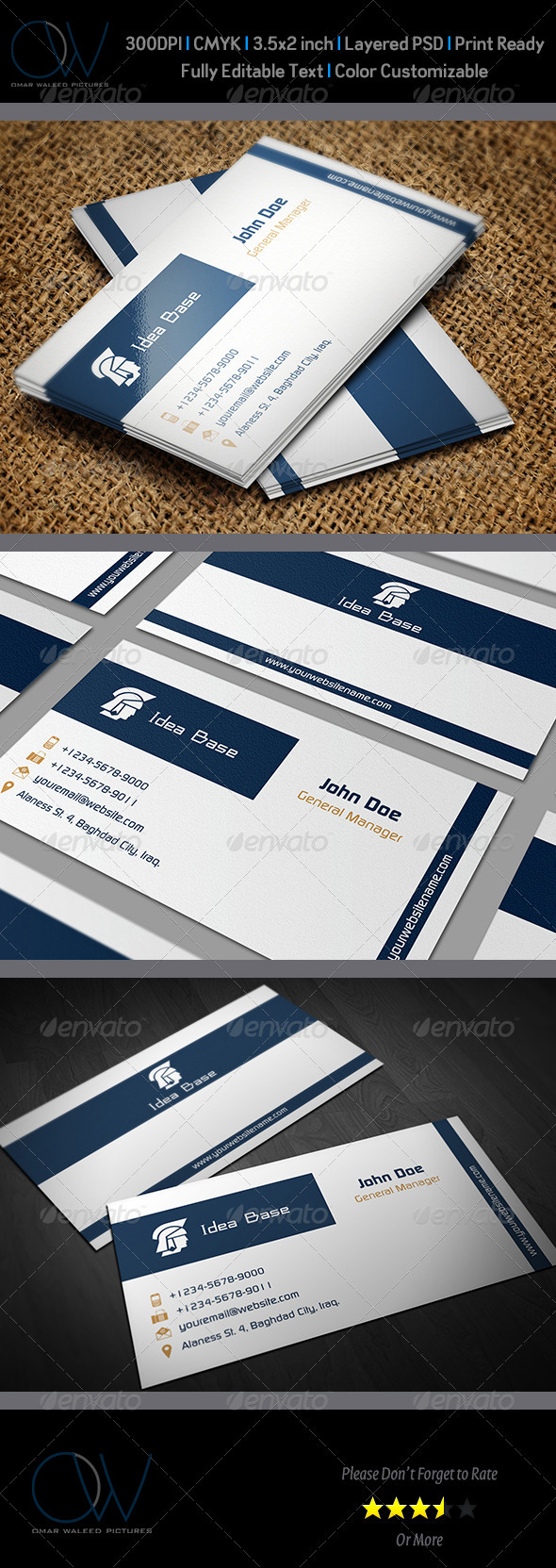Classic Business Card v3 - Corporate Business Cards