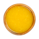 Freshly pressed orange juice with fruit pulp in a wooden bowl - PhotoDune Item for Sale