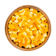 Fresh organic orange skin, cut in square shaped pieces, in a wooden bowl - PhotoDune Item for Sale