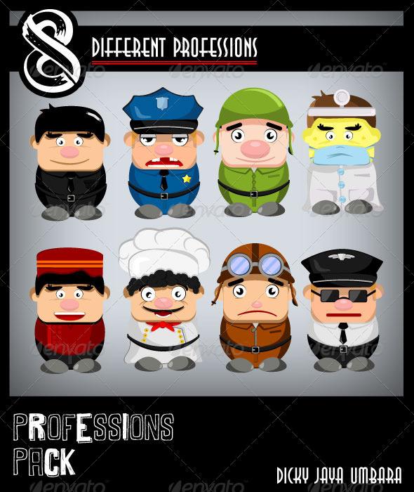 Professions pack - Characters Vectors