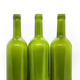 Three green empty wine bottles on a white background - PhotoDune Item for Sale