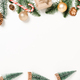 Minimal creative flat lay of christmas traditional composition and new year holiday season. - PhotoDune Item for Sale