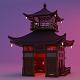 Fureai-Kannon-do hall Japanese Garden Structures Pavilions