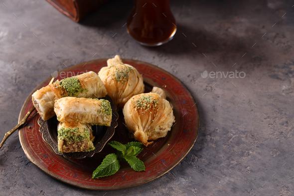 Arabic Sweets Baklava - Stock Photo - Images
