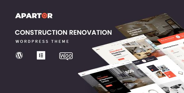 Apartor - Construction Renovation WordPress Theme