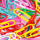 Stationery paper clips, multicolored close-up as a background. Stationery concept. - PhotoDune Item for Sale