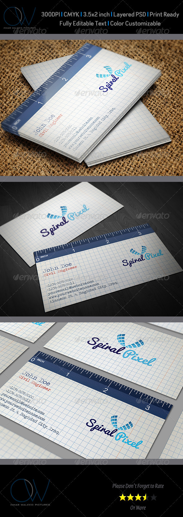 ruler business card by owpictures graphicriver