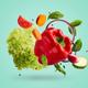Various ripe vegetables levitating in the air - PhotoDune Item for Sale