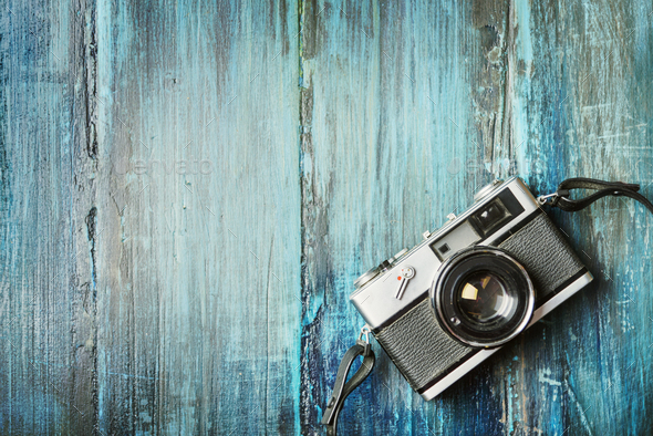 Vintage camera - Stock Photo - Images