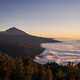 Landscape with volcano Pico de Teide above clouds at sunset - PhotoDune Item for Sale