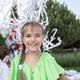 Happy kids enjoy paper show on backyard, outdoor birthday party, celebration in the garden - PhotoDune Item for Sale