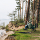 Couple Relaxing in a Hammock Overlooking the Water - PhotoDune Item for Sale