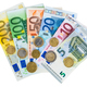 Set of euro banknotes and coins - PhotoDune Item for Sale