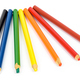 Set of colorful pencils on white background - PhotoDune Item for Sale