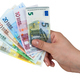Hand holding euro banknotes - PhotoDune Item for Sale