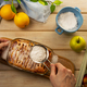 Apple pie decorated with powdered sugar - PhotoDune Item for Sale