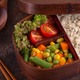 Healthy lunch in wooden japanese bento box. - PhotoDune Item for Sale