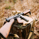 American Submachine Weapon Of World War II On Forest Stump - PhotoDune Item for Sale