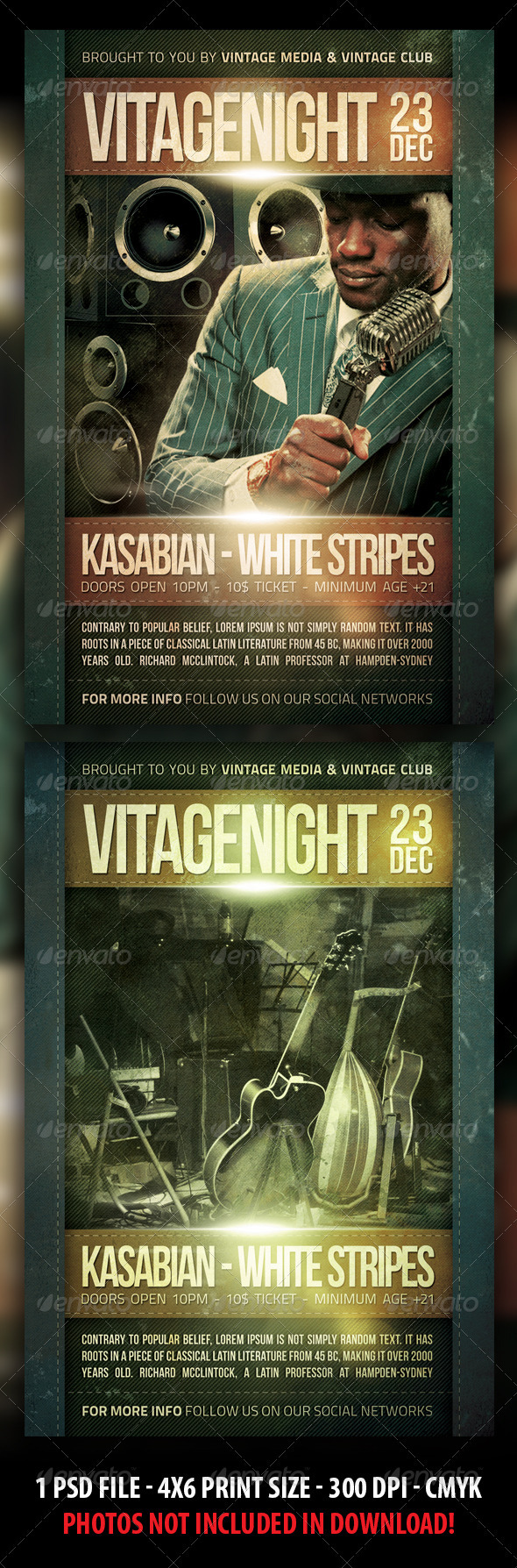 Vintage / Retro Party Flyer - Clubs & Parties Events