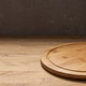 Pizza cutting board for homemade bread cooking or baking on table. Empty pizza board - PhotoDune Item for Sale