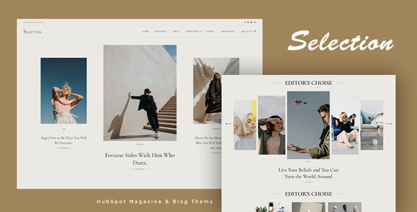 Selection - HubSpot Theme for Magazine and Blog