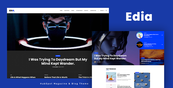 Edia - HubSpot Theme for Magazine and Blog