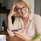 Happy senior woman talking on the phone - PhotoDune Item for Sale