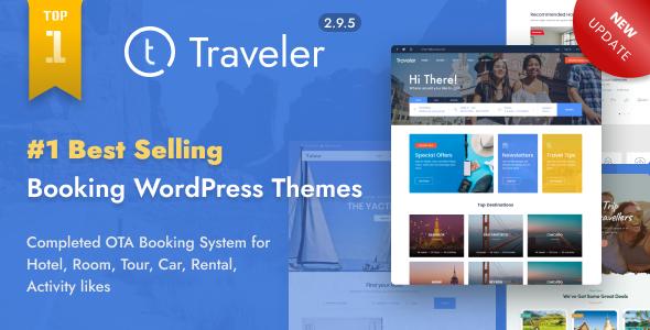 Excellent Travel Booking WordPress Theme