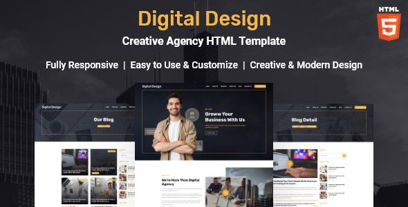 Digital Design - Creative Agency HTML Template