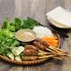nem lui fue, vietnamese grilled minced pork sausages on lemongrass skewers - PhotoDune Item for Sale
