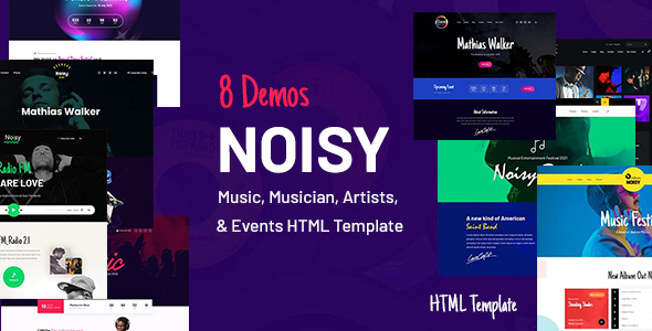 Noisy - Music & Events HTML Template