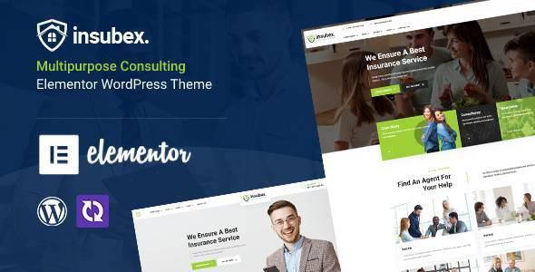 Insubex - Elementor Multipurpose Insurance WordPress Theme