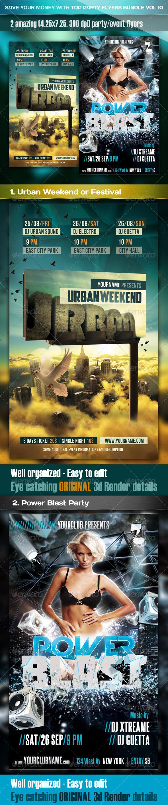 Top Party Flyer Bundle Vol10 - Clubs & Parties Events