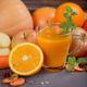 Fresh carrot, apple, pumpkin, orange, grapefruit on dark table. - PhotoDune Item for Sale