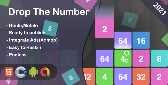 Drop The Number (Html5 + Construct 3 +Mobile)