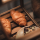 croissant bread dessert bakery in coffee cafe for breakfast, morning fresh meal food - PhotoDune Item for Sale