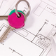 Home keys and electrical construction drawings and diagrams, building home concept - PhotoDune Item for Sale