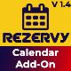 Rezervy - Drag & Drop, Month, Week, Day , List View & Filters Appointments Calendar (Add-On)
