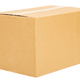 Closed cardboard box on white background isolate - PhotoDune Item for Sale