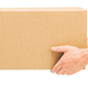 Hands hold corrugated cardboard box on isolated white background - PhotoDune Item for Sale