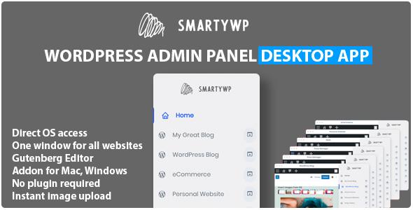 SmartyWP - Wordpress Admin Panel Mac, Windows