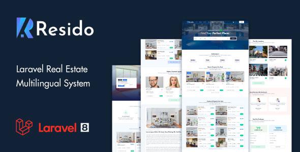 Resido - Laravel Real Estate Multilingual System