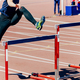 girl athlete run hurdles track and field race - PhotoDune Item for Sale