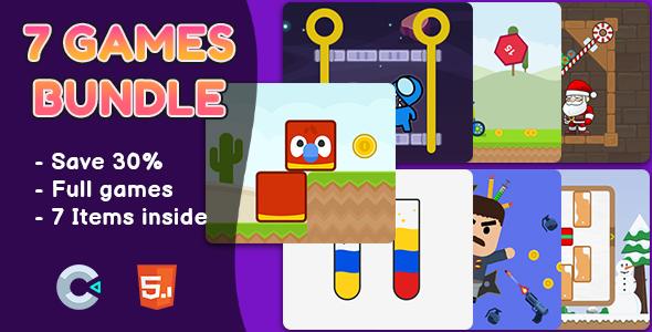 7 Games Bundle #2 - HTML5 Games   Construct 2 & 3