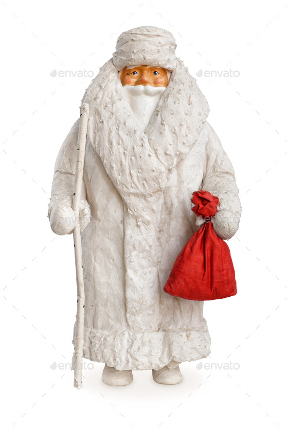 Very old traditional Christmas decoration figurine, Ded Moroz, or Jack Frost, or Santa Claus - Stock Photo - Images