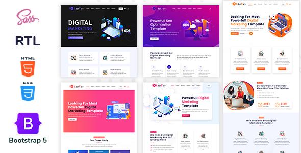 Loptus - Digital Marketing Agency Responsive HTML5 Template
